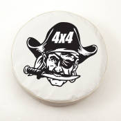 4x4 Pirate Jeep White Spare Tire Cover By HBS