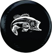 Bass Fishing Tire Cover