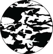 Camouflage Black and White Tire Cover