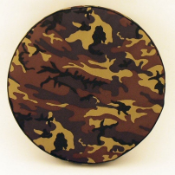 Camouflage Tire Cover on Black Vinyl -Color
