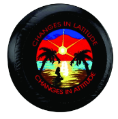 Changes in Latitude Tire Cover on Black Vinyl