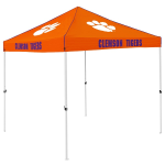 Clemson Tent w/ Tigers Logo - 9 x 9 Solid Color Canopy