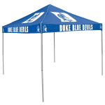 Duke Tent w/ Blue Devils Logo - 9 x 9 Solid Color Canopy