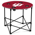 Indiana Hoosiers Round Tailgating Table