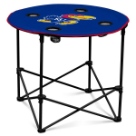 Kansas Jayhawks Round Tailgating Table