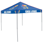 Kansas Tent w/ Jayhawks Logo - 9 x 9 Solid Color Canopy