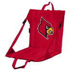 Louisville Stadium Seat w/ Cardinals Logo - Cushioned Back