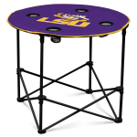 Louisiana State Tigers Round Tailgating Table
