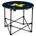 Michigan Wolverines Round Tailgating Table