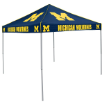 Michigan Tent w/ Wolverines Logo - 9 x 9 Solid Color Canopy