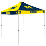 Michigan Tent w/ Wolverines Logo - 9 x 9 Checkerboard Canopy