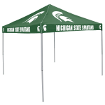 Michigan State Tent w/ Spartans Logo - 9 x 9 Solid Color Canopy