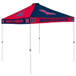 Ole Miss Tent w/ Rebels Logo - 9 x 9 Checkerboard Canopy