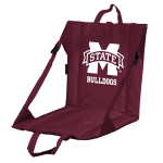 Mississippi State Stadium Seat w/ Bulldogs Logo - Cushioned Back