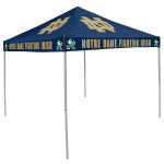 Notre Dame Tent w/ Fighting Irish Logo - 9 x 9 Solid Color Canopy