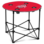 Ohio State Buckeyes Round Tailgating Table