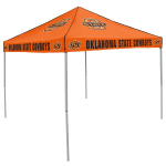 Oklahoma State Tent w/ Cowboys Logo - 9 x 9 Solid Color Canopy