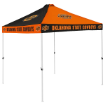 Oklahoma State Tent w/ Cowboys Logo - 9 x 9 Checkerboard Canopy