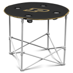 Purdue Boilermakers Round Tailgating Table