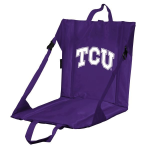 Texas Christian Stadium Seat w/ Frogs Logo - Cushioned Back