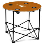 Texas Longhorns Round Tailgating Table