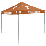 Texas Tent w/ Longhorns Logo - 9 x 9 Solid Color Canopy