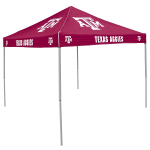 Texas A&M Tent w/ Aggies Logo - 9 x 9 Solid Color Canopy