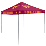 Virginia Tech Tent w/ Hokies Logo - 9 x 9 Solid Color Canopy