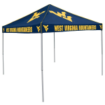 West Virginia Tent w/ Mountaineers Logo - 9 x 9 Solid Color Canopy