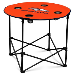Denver Broncos Round Tailgating Table