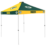 Green Bay Tent w/ Packers Logo - 9 x 9 Checkerboard Canopy