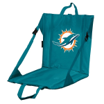 Miami Stadium Seat w/ Dolphins Logo - Cushioned Back