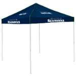 Seattle Tent w/ Seahawks Logo - 9 x 9 Solid Color Canopy