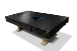 Carolina Pool Table Cover w/ Panthers Logo - Black Naugahyde