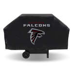 Atlanta Grill Cover with Falcons Logo on Black Vinyl - Economy