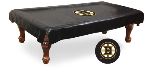 Boston Pool Table Cover w/ Bruins Logo - Black Vinyl