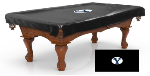 Brigham Young Pool Table Cover w/ Cougars Logo - Black Vinyl