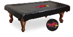 Illinois State Pool Table Cover w/ Redbirds Logo - Black Vinyl