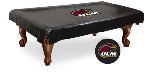 Louisiana Monroe Pool Table Cover w/ Warhawks Logo - Black Vinyl
