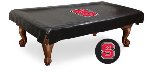 NC State Pool Table Cover w/ Wolfpack Logo - Black Vinyl