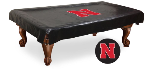 Nebraska Pool Table Cover w/ Cornhuskers Logo - Black Vinyl