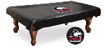 Northern Illinois Pool Table Cover w/ Huskies Logo - Black Vinyl