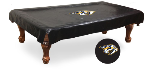 Nashville Pool Table Cover w/ Predators Logo - Black Vinyl