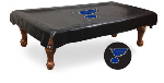 St Louis Pool Table Cover w/ Blues Logo - Black Vinyl