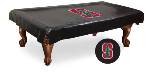 Stanford Pool Table Cover w/ Cardinals Logo - Black Vinyl