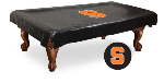Syracuse Pool Table Cover w/ Orange Logo - Black Vinyl