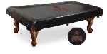 Texas State Pool Table Cover w/ Bobcats Logo - Black Vinyl