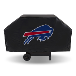 Buffalo Grill Cover with Bills Logo on Black Vinyl - Economy
