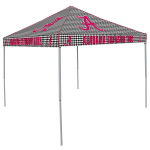 Alabama Tent w/ Crimson Tide Houndstooth Logo - 9 x 9 Solid Color Canopy