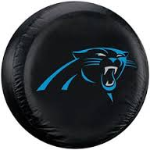 Carolina Tire Cover with Panthers Logo on Black - Standard